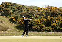 Sunday 31st May 2015; Shane Lowry, Ireland, plays his approach to the 9th green<br /> <br /> Dubai Duty Free Irish Open Golf Championship 2015, Round 4 County Down Golf Club, Co. Down. Picture credit: John Dickson / DICKSONDIGITAL