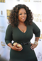 Oprah Winfrey at the 19th Annual Critics' Choice Awards at The Barker Hangar, Santa Monica Airport.<br /> January 16, 2014  Santa Monica, CA<br /> Picture: Paul Smith / Featureflash