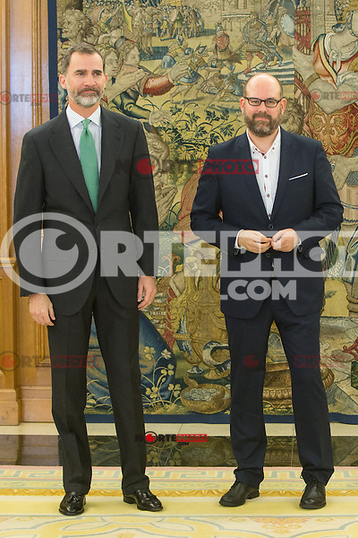 Spanish King Felipe and Mayor of Santiago de Compostela, Martino Noriega Sanchez attends at Zarzuela's Palace in Spain. March 76, 2017. (ALTERPHOTOS / Rodrigo Jimenez) NortePhoto.com