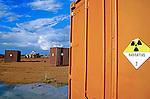 Container com lixo nuclear em Goiânia. Goiás. 1987. Foto de Salomon Cytrynowicz.