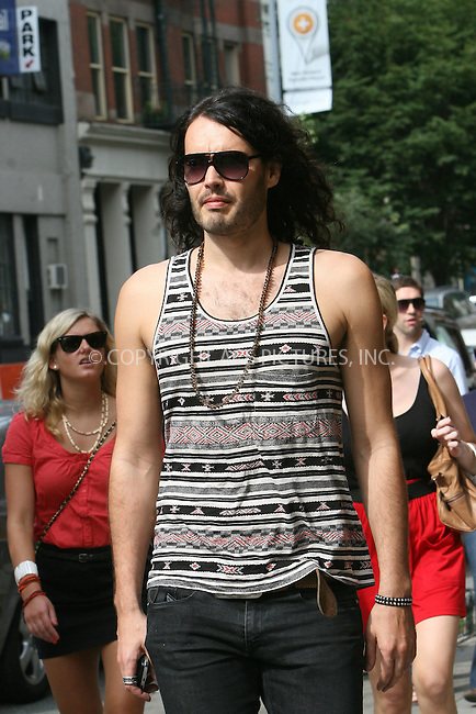 WWW.ACEPIXS.COM . . . . .  ....September 7 2009, New York City....Actor Russell Brand was seen walking around Soho ....Please byline: NANCY RIVERA- ACE PICTURES.... *** ***..Ace Pictures, Inc:  ..tel: (212) 243 8787 or (646) 769 0430..e-mail: info@acepixs.com..web: http://www.acepixs.com