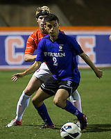 The number 24 ranked Furman Paladins took on the number 20 ranked Clemson Tigers in an inter-conference game at Clemson's Riggs Field.  Furman defeated Clemson 2-1.  Tony Santibanez (2)