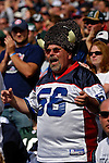 30 September 2007: A Buffalo Bills fan cheers his team on against the New York Jets at Ralph Wilson Stadium in Orchard Park, NY. The Bills defeated the Jets 17-14 for their first win of the 2007 season...Mandatory Photo Credit: Ed Wolfstein Photo