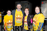 Emma Cronin, June O'Sullivan and Mary Cronin Killarney with Danny Healy Rae at Nathan's walk Darkness into Light walk in aid of Pieta House in Killarney racecourse  on Saturday