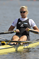 Poznan, POLAND,  NZL W1X, Emma TWIGG, competing in the heats of the women's single scull, on the first day of the, 2009 FISA World Rowing Championships. held on the Malta Rowing lake, Sunday 23/08/2009 [Mandatory Credit. Peter Spurrier/Intersport Images]