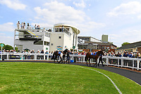 A general view of the Parade Ring during Afternoon Racing at Salisbury Racecourse on 16th May 2019