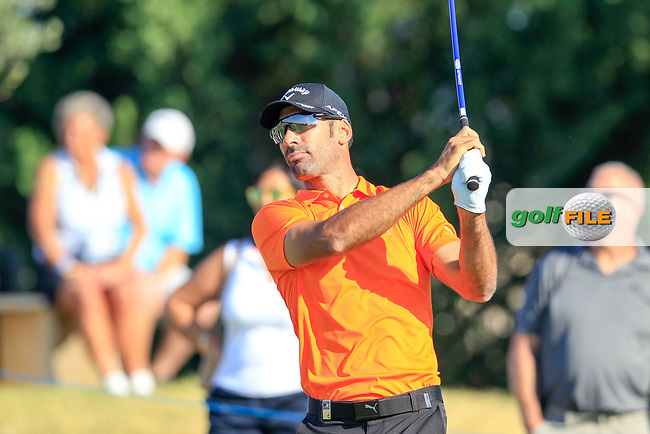 Alvaro Quiros (ESP) on the 15th during the 1st round of the 2017 Portugal Masters, Dom Pedro Victoria Golf Course, Vilamoura, Portugal. 21/09/2017<br /> Picture: Fran Caffrey / Golffile<br /> <br /> All photo usage must carry mandatory copyright credit (&copy; Golffile | Fran Caffrey)