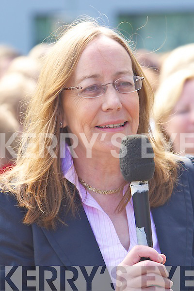 Doctor Bridget O'Brien Pictured at the Silent protest in regard to the mammogram services at Kerry General Hoapitalon Saturday