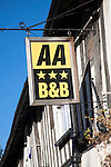 Three star AA sign for bed and breakfast hotel accommodation, Dedham, Essex, England