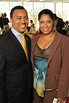Co-chairs Malcolm Sykes and Karen Manning at a luncheon at the Houston Museum of African American Cuture Wednesday  March 10,2010. (Dave Rossman Photo)