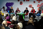 The full panel of the Women's Leadership on Climate Justice - A Global Perspective. (l-r) Constance Okollet, Ulamila Kurai Wragg, Rehana Bibi Khilji, Lorena Aguilar, Mary Robinson and Lene Johansen December 14, 2009.  (Images free for Editorial Web usage for Fresh Air Participants during COP 15. Credit: Robert vanWaarden)