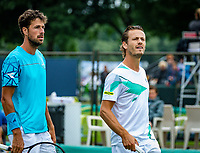 Den Bosch, Netherlands, 12 June, 2018, Tennis, Libema Open, Men's doubles : Robin Haase (NED) and Wesley Koolhof (NED) (R)<br /> Photo: Henk Koster/tennisimages.com