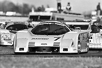 Ford had limited success competing in IMSA's GTP category with cars prepped by Zakspeed USA. David Hobbs, Gianpiero Moretti and Whitney Ganz drove this car at Daytona in 1987, starting 11th, but losing the engine on lap 328 and finishing 40th.
