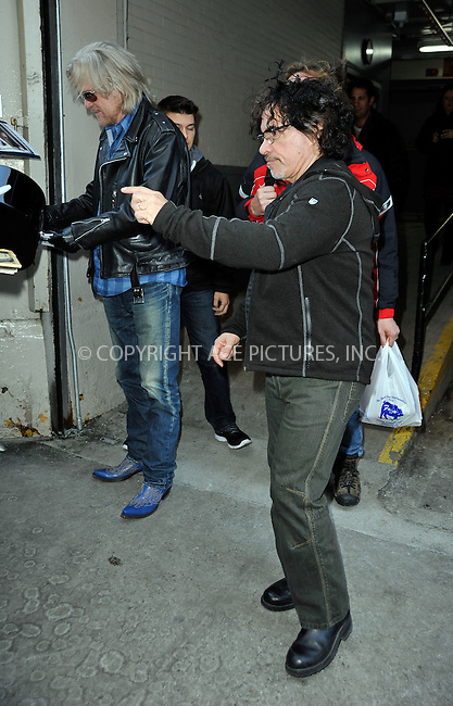 WWW.ACEPIXS.COM<br /> <br /> February 18 2015, New York City<br /> <br /> Daryl Hall and John Oates (R) made an appearance at 'HuffPost Live' on February 18 2015 in New York City<br /> <br /> By Line: Curtis Means/ACE Pictures<br /> <br /> <br /> ACE Pictures, Inc.<br /> tel: 646 769 0430<br /> Email: info@acepixs.com<br /> www.acepixs.com