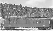 RGS outfit coach #0256 parked in Dolores.<br /> RGS  Dolores, CO  Taken by Peyton, Ernie S. - 3/28/1950