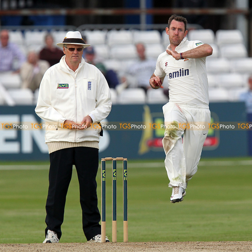 David Masters in bowling action for Essex - Essex CCC vs  Hampshire CCC - LV County Championship Division Two Cricket at the Ford County Ground, Chelmsford, Essex - 19/07/12 - MANDATORY CREDIT: Gavin Ellis/TGSPHOTO - Self billing applies where appropriate - 0845 094 6026 - contact@tgsphoto.co.uk - NO UNPAID USE.