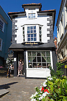 Great Britain, England, Berkshire, Windsor: Crooked Market Cross House tea room | Grossbritannien, England, Berkshire, Windsor: das etwas schief stehende Market Cross House mit Restaurant, Coffee House und Team Room