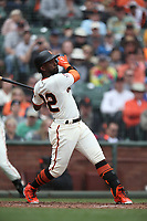 SAN FRANCISCO, CA - APRIL 11:  Andrew McCutchen #22 of the San Francisco Giants bats against the Arizona Diamondbacks during the game at AT&T Park on Wednesday, April 11, 2018 in San Francisco, California. (Photo by Brad Mangin)