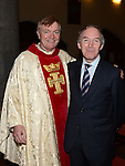 Fr Iggy O'Donovan and Former Govenor of Mountjoy Prison John Lonergan pictured at the annual SOSAD mass at the Augustinian church Drogheda. Photo:Colin Bell/pressphotos.ie