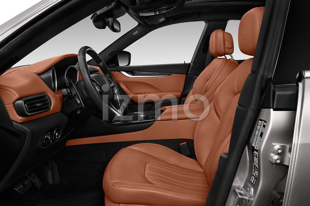 Front seat view of a 2018 Maserati Levante Base 5 Door SUV front seat car photos