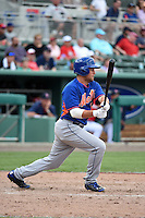 New York Mets third baseman Daniel Muno (74) during a Spring Training game against the Boston Red Sox on March 16, 2015 at JetBlue Park at Fenway South in Fort Myers, Florida.  Boston defeated New York 4-3.  (Mike Janes/Four Seam Images)