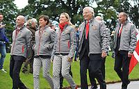 Blair Atholl, Scotland, UK. 8th September, 2015. Longines  FEI European Eventing Championships 2015, Blair Castle.Opening Ceremony.Belgium © Julie Priestley