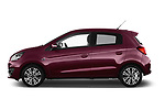 Car Driver side profile view of a 2017 Mitsubishi Space-Star Instyle 5 Door Hatchback Side View