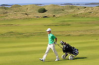 Rowan Lester (IRL) on the 14th fairway during the Afternoon Singles between Ireland and Wales at the Home Internationals at Royal Portrush Golf Club on Thursday 13th August 2015.<br /> Picture:  Thos Caffrey / www.golffile.ie