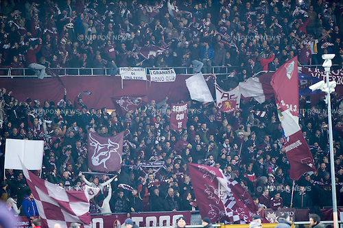 Torino fans, FEBRUARY 19, 2015 - Football / Soccer : UEFA Europa League, round of 32 first leg match between Torino FC 2-2 Athletic Club Bilbao at Stadio Olimpico di Torino in Turin, Italy. (Photo by Maurizio Borsari/AFLO)