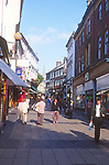 ATBK5A Busy pedestrianised shopping streets Norwich Norfolk England