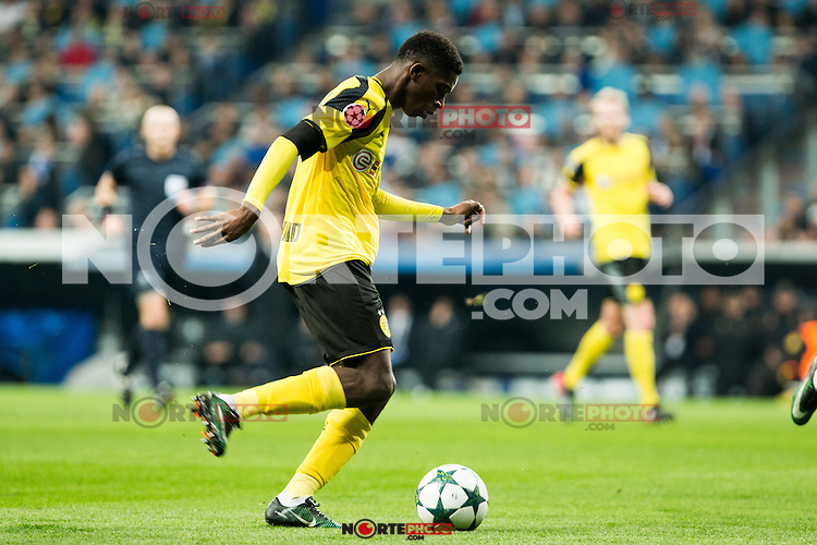 Borussia Dortmund Ousmane Cembele  during Champions League match between Real Madrid and Borussia Dortmund  at Santiago Bernabeu Stadium in Madrid , Spain. December 07, 2016. (ALTERPHOTOS/Rodrigo Jimenez) /NortePhoto.com