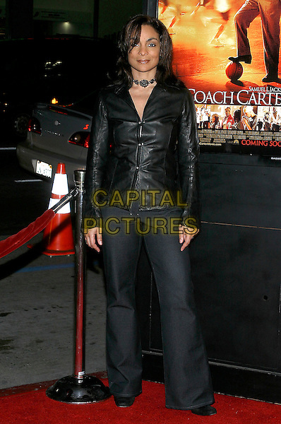 "JASMINE GUY.""Coach Carter"" Los Angeles Premiere at Grauman's Chinese Theatre, Hollywood, California, USA, 13 January 2005..full length black jacket trousers.Ref: ADM.www.capitalpictures.com.sales@capitalpictures.com.©Jacqui Wong/AdMedia/Capital Pictures ."