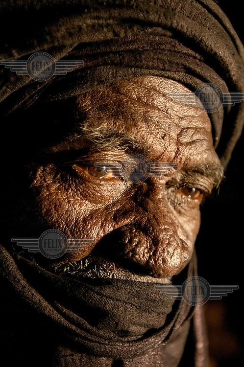 A portrait of an elderly man in Timbuktu. /Felix Features