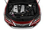 Car Stock 2019 Lexus ES 300h-Privilege-Line 4 Door Sedan Engine  high angle detail view