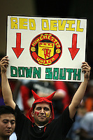 Fan of Manchester United during the 2010 MLS All-Star match against the MLS All-Stars at Reliant Stadium, on July 28 2010, in Houston, Texas.MANU won 5-2.