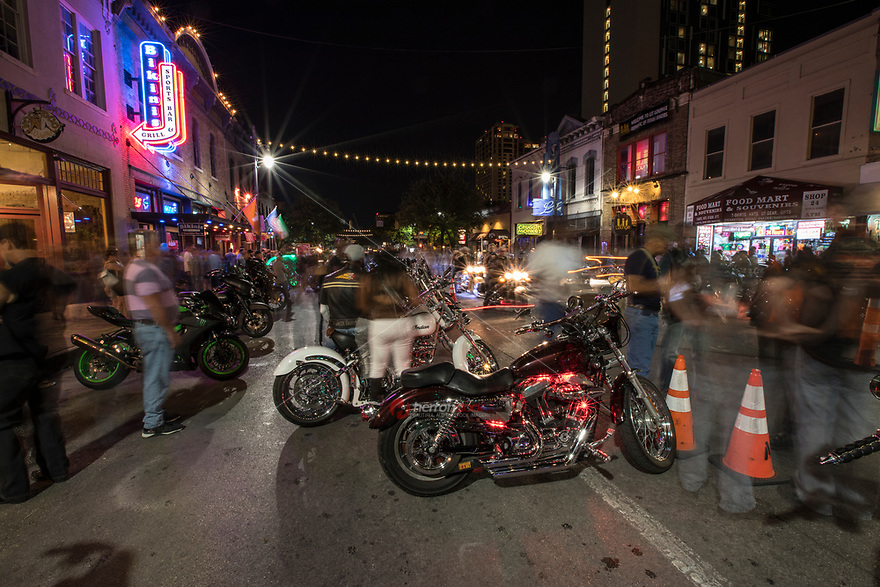 The Republic of Texas Biker Rally (ROT Biker Rally) annual event brings bike riders from all over for the country's largest motorcycle rally to the Dirty 6th Street Bar District for much partying and beer drinking in Austin, Texas.