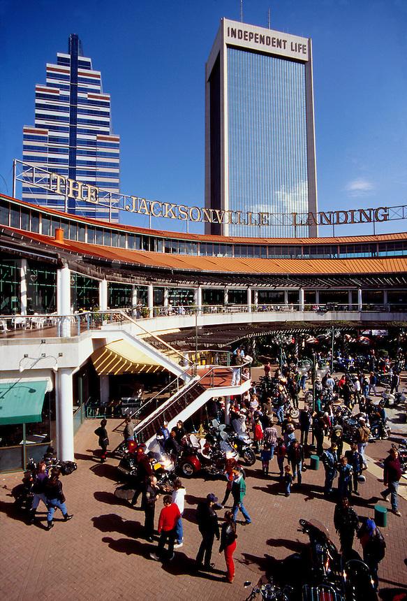 Jacksonville Landing, a shopping mall on the St. John's River, Jacksonville, Florida