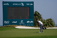 Callum Shinkwin (ENG) on the 9th during Round 3 of the Oman Open 2020 at the Al Mouj Golf Club, Muscat, Oman . 29/02/2020<br /> Picture: Golffile   Thos Caffrey<br /> <br /> <br /> All photo usage must carry mandatory copyright credit (© Golffile   Thos Caffrey)