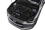 Car stock 2018 Mazda Mazda6 Skycruise 4 Door Sedan engine high angle detail view