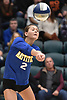 Viki Harkin #2 of Mattituck hits over the net during her team's 3-0 win over East Rockaway in the girls volleyball Class C Long Island Championship at Farmingdale State College on Sunday, Nov. 11, 2018.