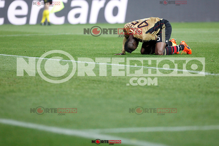 Milan´s Balotelli during 16th Champions League soccer match at Vicente Calderon stadium in Madrid, Spain. January 06, 2014. (ALTERPHOTOS/Victor Blanco)
