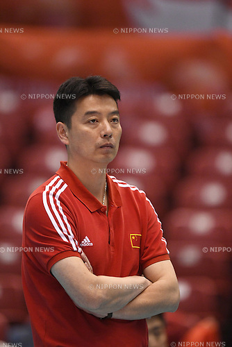 Xie Guochen (CHN), <br /> JUNE 2, 2016 - Volleyball :<br /> Men's Volleyball World Final Qualification for the Rio de Janeiro Olympics 2016<br /> match between Iran 3-2 China<br /> at Tokyo Metropolitan Gymnasium, Tokyo, Japan.<br /> (Photo by AFLO SPORT)