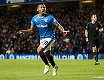 Alfredo Morelos celebrates his goal
