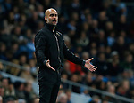 Josep Guardiola manager of Manchester City on the touchline during the premier league match at the Etihad Stadium, Manchester. Picture date 3rd December 2017. Picture credit should read: Andrew Yates/Sportimage