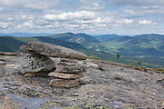 View from along the Baldface Circle Trail in the White Mountains, New Hampshire during the summer months.
