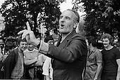 Geoffrey Smith, National Gypsy Council, Speakers Corner, Hyde Park, London; July 1978.