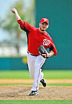 12 March 2012: Washington Nationals pitcher Chad Durbin on the mound during a Spring Training game against the St. Louis Cardinals at Space Coast Stadium in Viera, Florida. The Nationals defeated the Cardinals 8-4 in Grapefruit League play. Mandatory Credit: Ed Wolfstein Photo