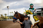 MAR 07: Combatant and Joel Rosario wins the Santa Anita Handicap at Santa Anita Park in Arcadia, California on March 7, 2020. Evers/Eclipse Sportswire/CSM