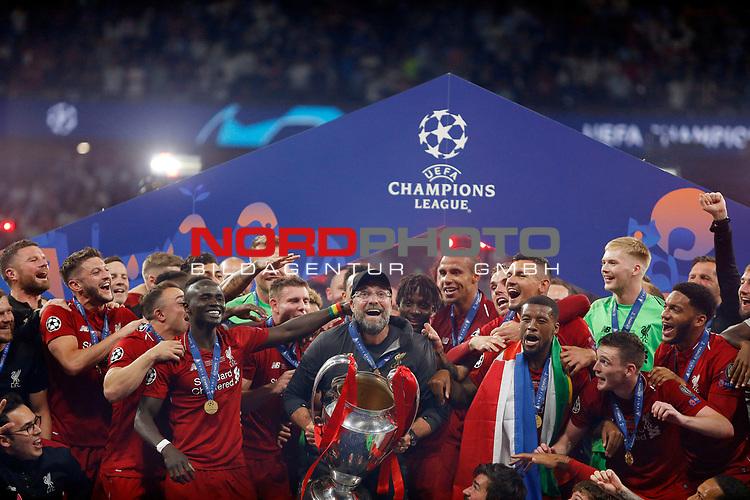 Liverpool's FC coach Jurgen Klopp during UEFA Champions League match, Final Roundl between Tottenham Hotspur FC and Liverpool FC at Wanda Metropolitano Stadium in Madrid, Spain. June 01, 2019.(Foto: nordphoto / Alterphoto /Manu R.B.)