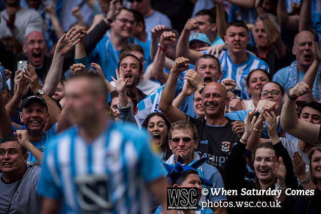Coventry City 3 Exeter City 1, 28/05/2018. Wembley Stadium, League. Photo by Simon Gill.